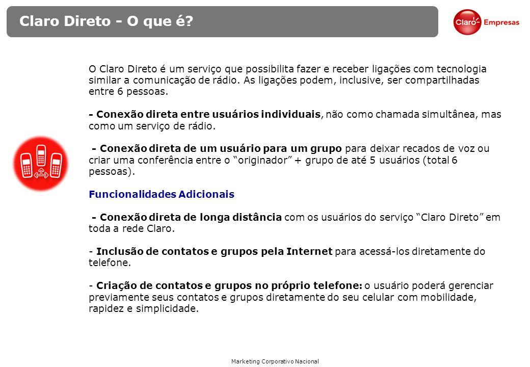 Marketing Corporativo Nacional Claro Direto - Quem utiliza.