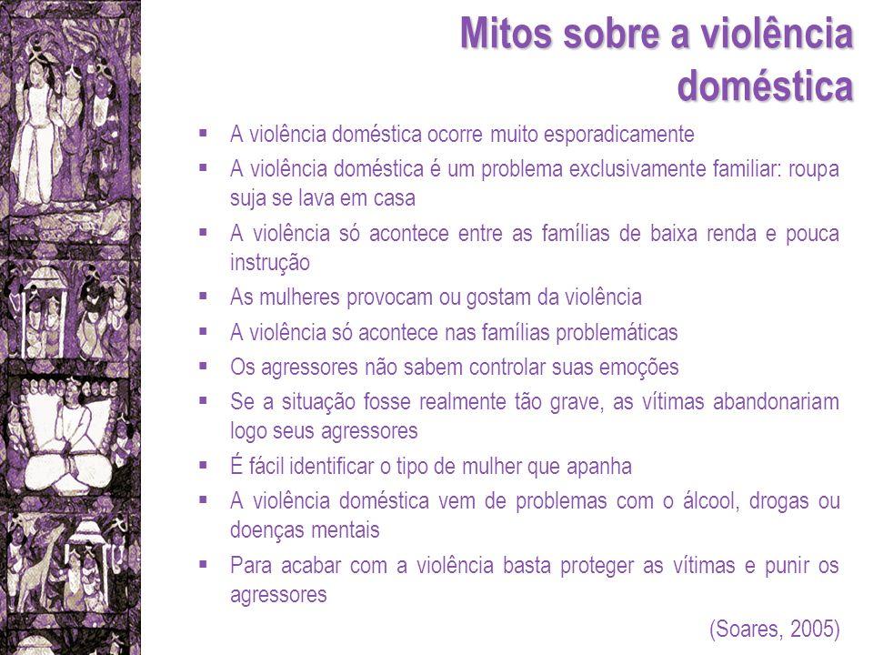Mitos sobre a violência doméstica A violência doméstica ocorre muito esporadicamente A violência doméstica é um problema exclusivamente familiar: roup