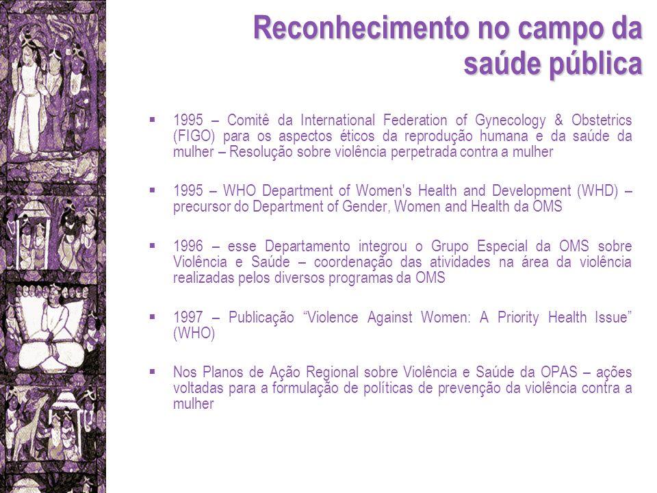 Reconhecimento no campo da saúde pública 1995 – Comitê da International Federation of Gynecology & Obstetrics (FIGO) para os aspectos éticos da reprod