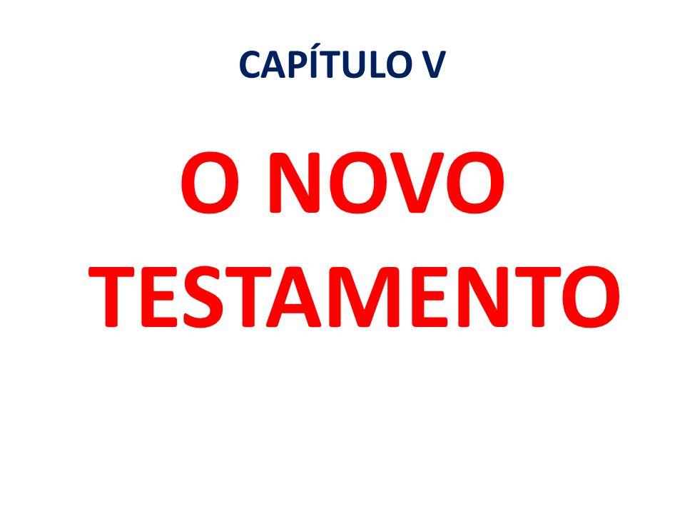 CAPÍTULO V O NOVO TESTAMENTO