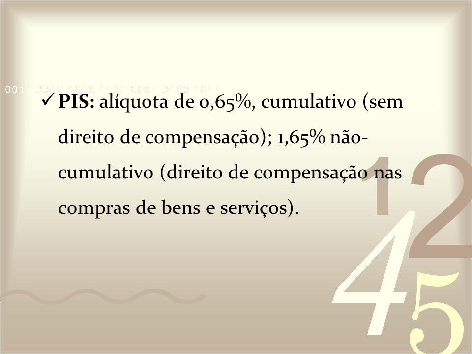 IPI: é um imposto compensável quando o material utilizado for usado na fabricação de outro produto também tributado pelo IPI.