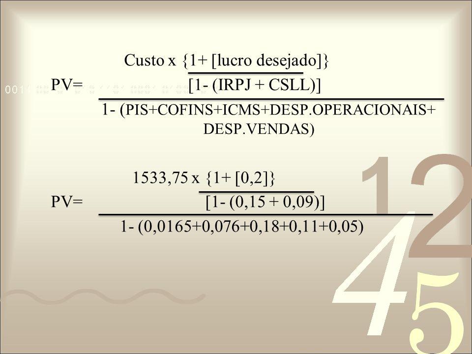 1533,75 x {1+ [0,2]} PV= [1- (0,24)] 1- (0,4325) 1533,75 x {1+ [0,2]} PV= [0,76] 0,5675 PV=1533,75 x 1 + 0,263157895 0,5675