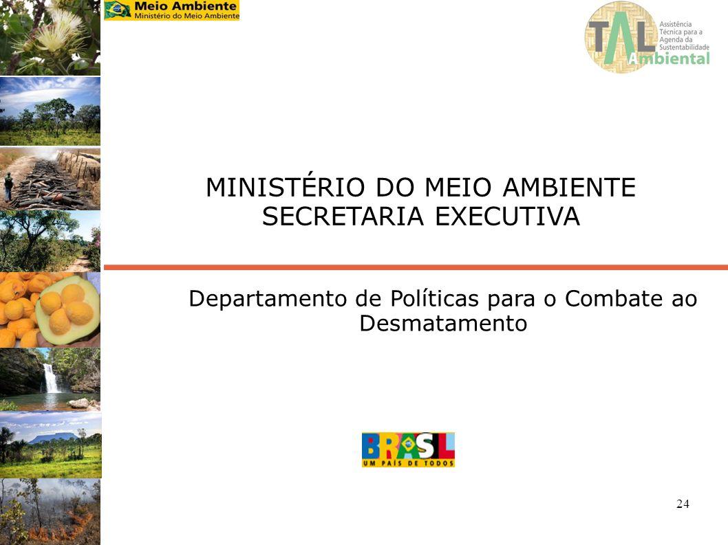 24 MINISTÉRIO DO MEIO AMBIENTE SECRETARIA EXECUTIVA Departamento de Políticas para o Combate ao Desmatamento