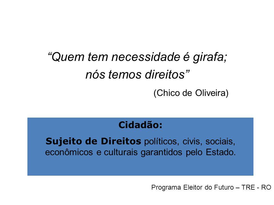 Participação e Controle Social A cidadania da pessoa idosa ainda não é plena.