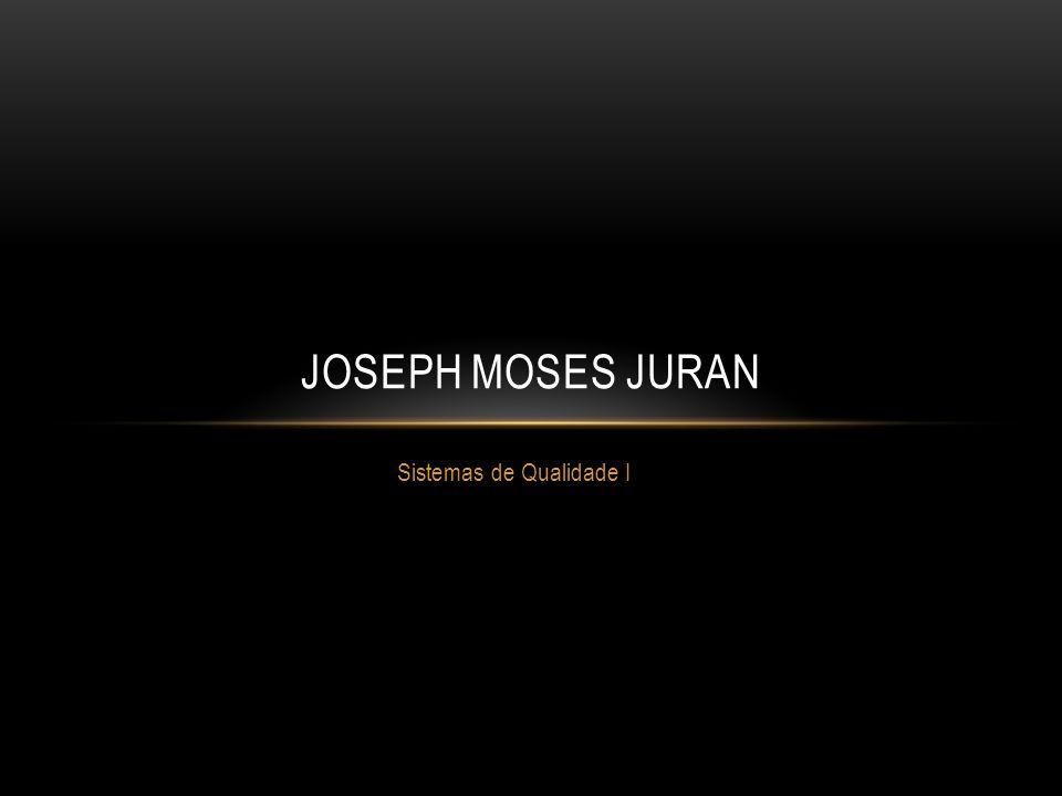 Sistemas de Qualidade I JOSEPH MOSES JURAN