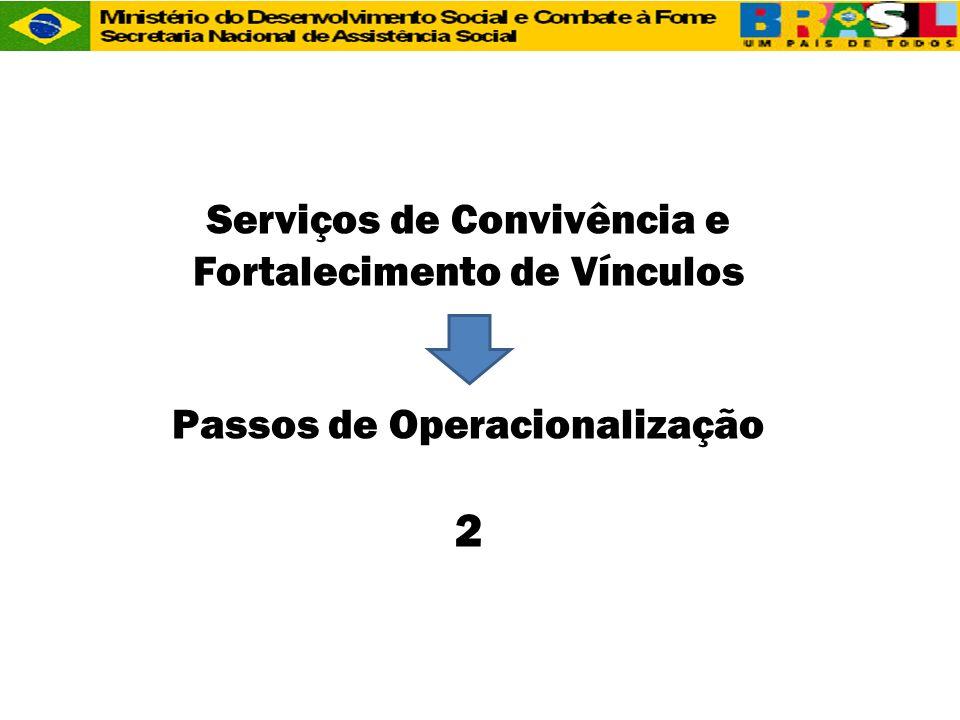 Serviços de Convivência e Fortalecimento de Vínculos Passos de Operacionalização 2