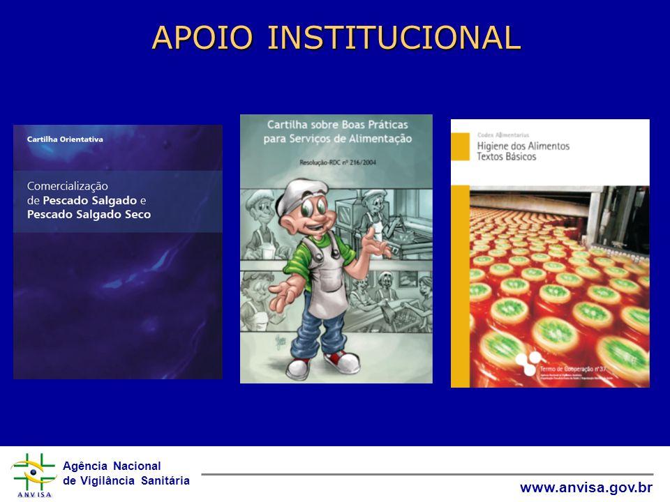 Agência Nacional de Vigilância Sanitária www.anvisa.gov.br APOIO INSTITUCIONAL