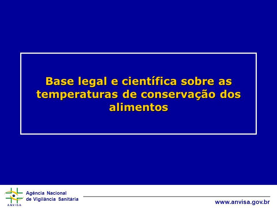 Agência Nacional de Vigilância Sanitária www.anvisa.gov.br Base legal e científica sobre as temperaturas de conservação dos alimentos