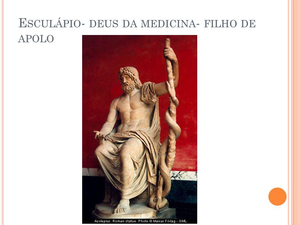 E SCULÁPIO - DEUS DA MEDICINA - FILHO DE APOLO
