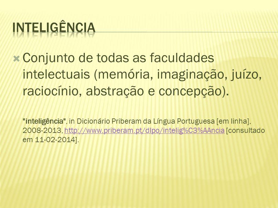 Conjunto de todas as faculdades intelectuais (memória, imaginação, juízo, raciocínio, abstração e concepção).