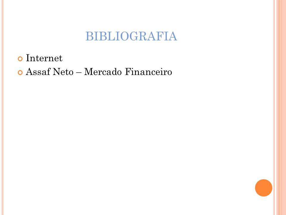 BIBLIOGRAFIA Internet Assaf Neto – Mercado Financeiro