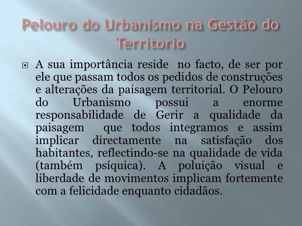 A sua importância reside no facto, de ser por ele que passam todos os pedidos de construções e alterações da paisagem territorial.