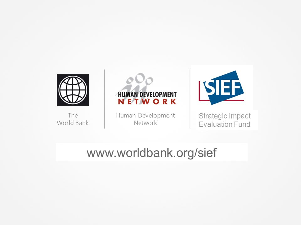 Bénédicte de la Brière Banco Mundial MONITORIA & AVALIAÇÃO: Os fundamentos para obter resultados
