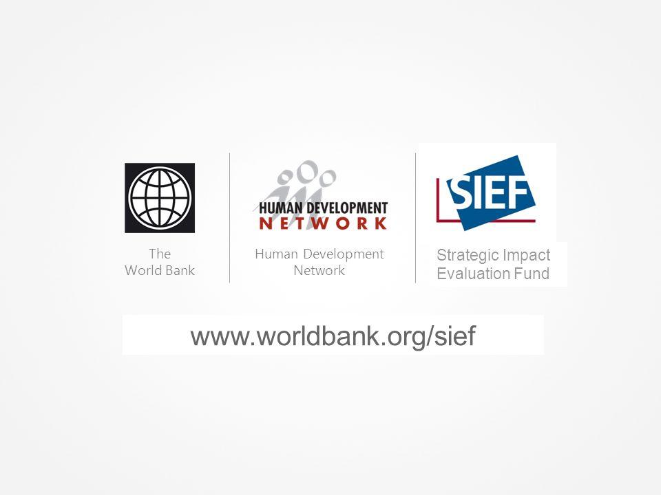 www.worldbank.org/hdchiefeconomist The World Bank Human Development Network Spanish Impact Evaluation Fund Strategic Impact Evaluation Fund www.worldbank.org/sief
