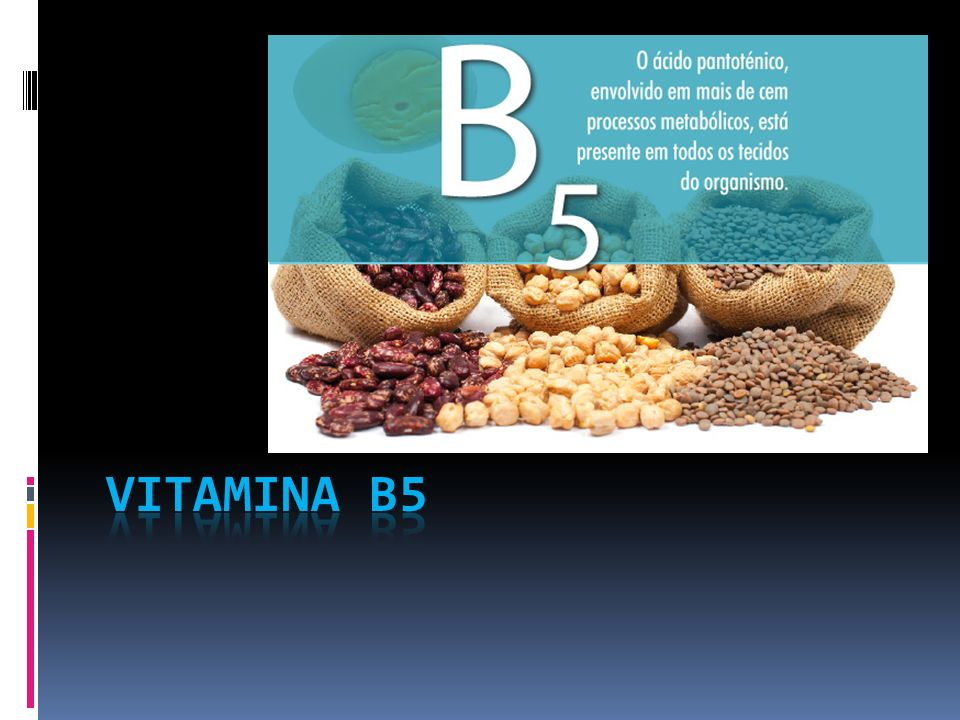 Índice Onde á vitamina B5 .Como é absorvido . Tabela diária.