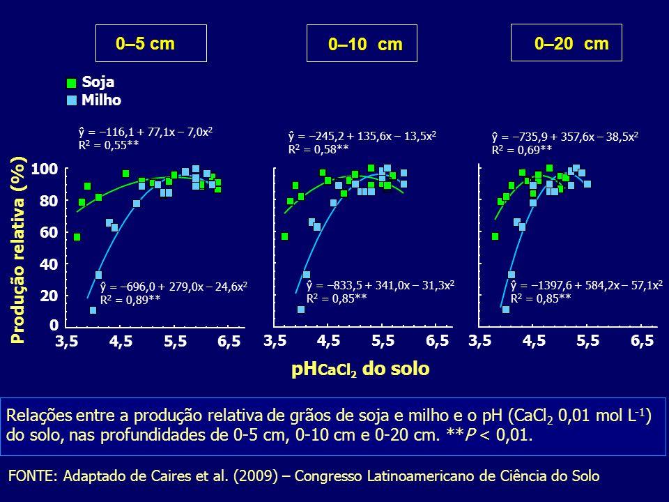 FONTE: Adaptado de Caires et al. (2009) – Congresso Latinoamericano de Ciência do Solo