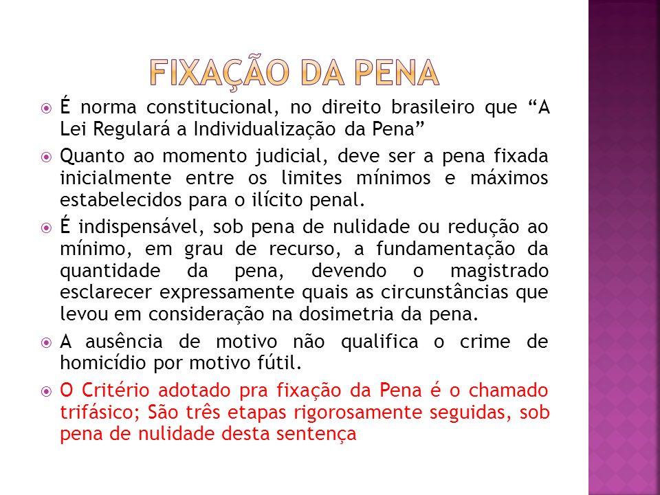 É norma constitucional, no direito brasileiro que A Lei Regulará a Individualização da Pena Quanto ao momento judicial, deve ser a pena fixada inicial