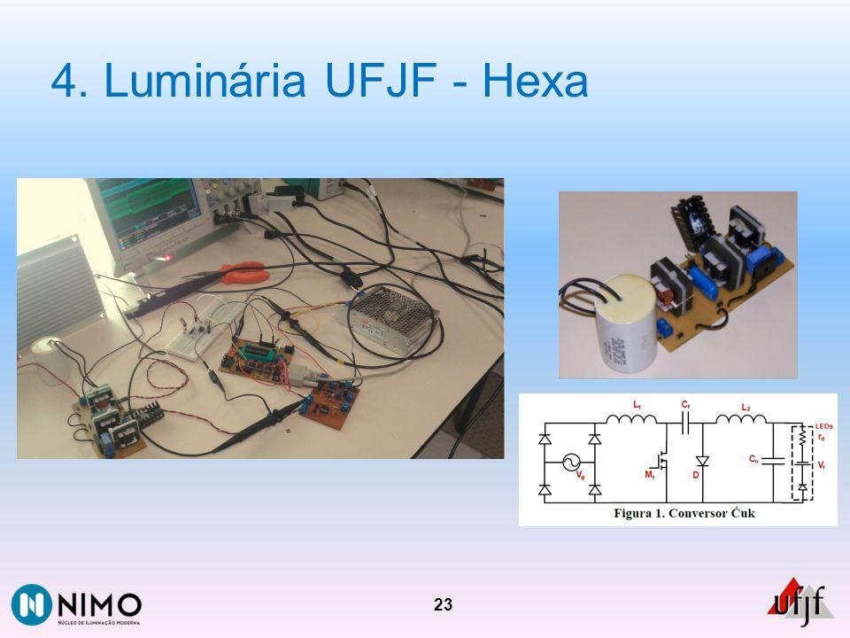 4. Luminária UFJF - Hexa 23