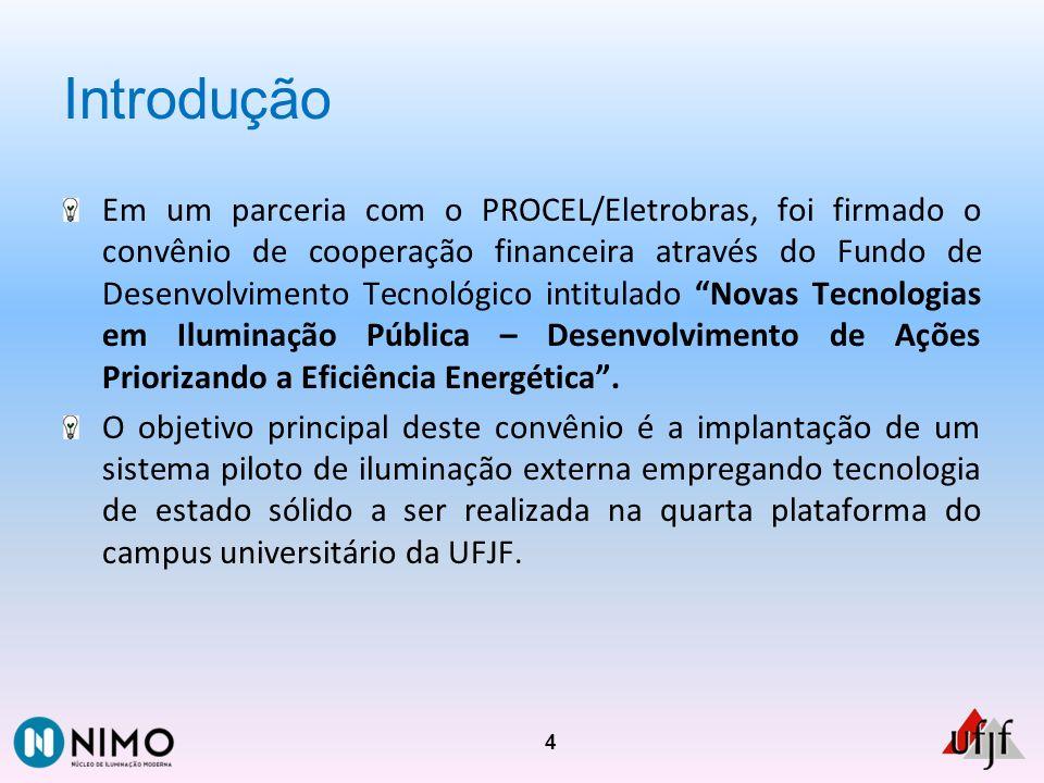Introdução Em um parceria com o PROCEL/Eletrobras, foi firmado o convênio de cooperação financeira através do Fundo de Desenvolvimento Tecnológico int