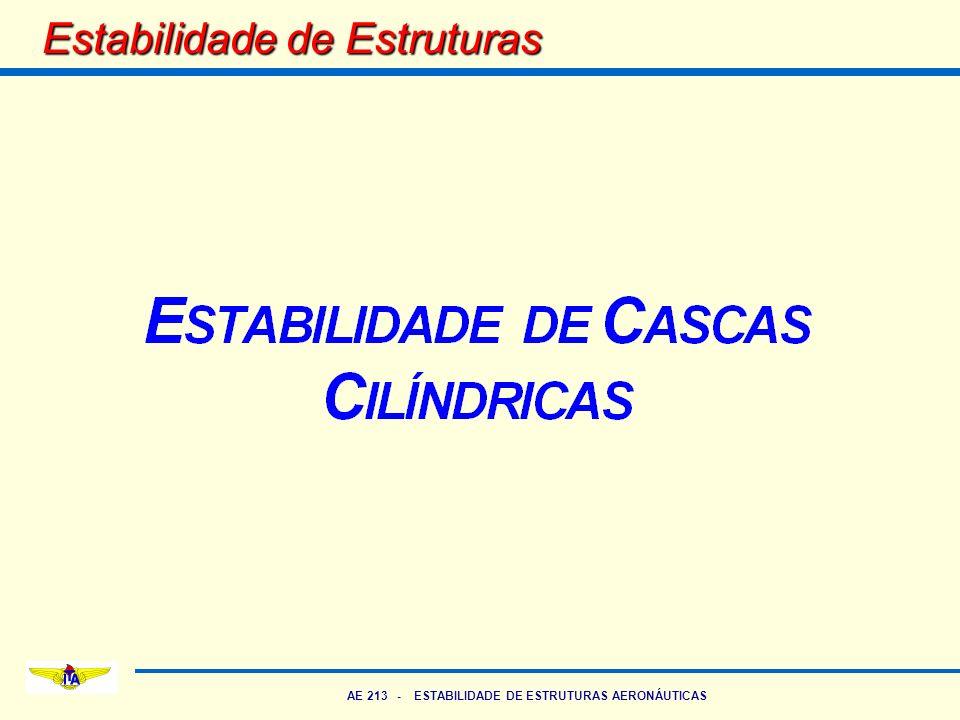 AE 213 - ESTABILIDADE DE ESTRUTURAS AERONÁUTICAS Classificação de Cascas Cilíndrica