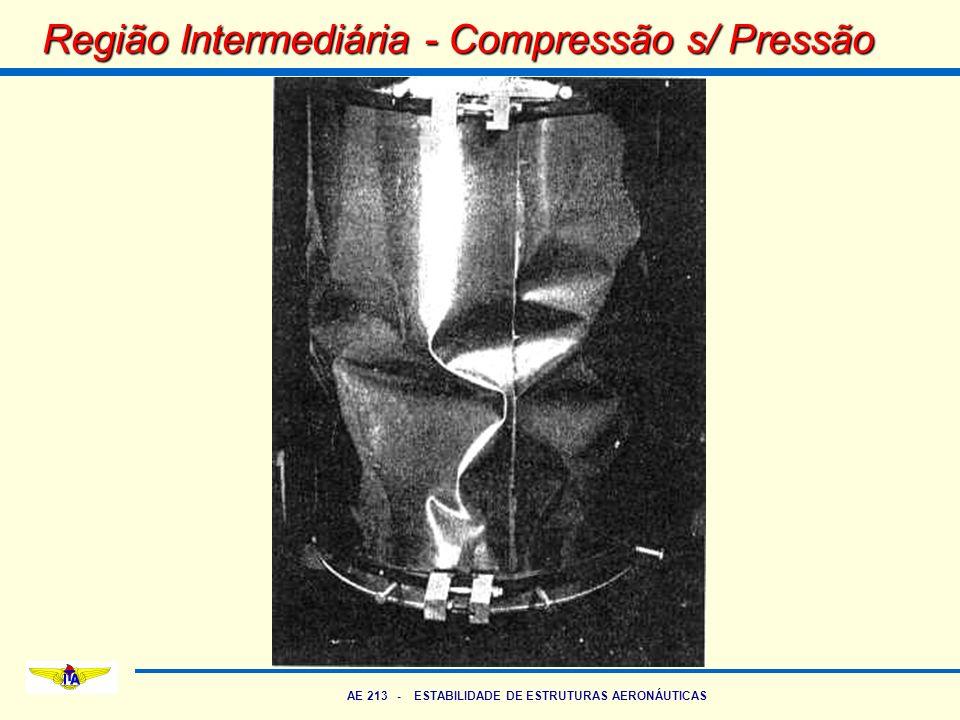 AE 213 - ESTABILIDADE DE ESTRUTURAS AERONÁUTICAS Região Intermediária - Compressão s/ Pressão