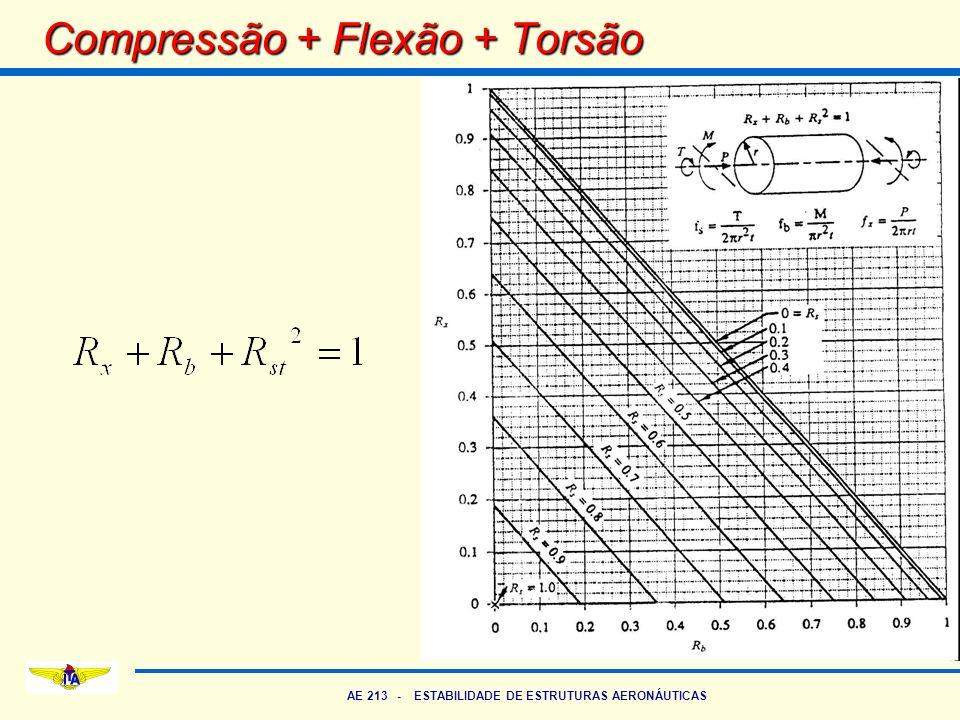 AE 213 - ESTABILIDADE DE ESTRUTURAS AERONÁUTICAS Compressão + Flexão + Torsão