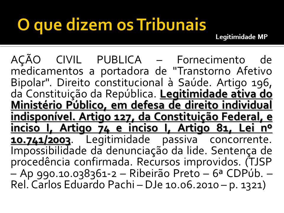 Legitimidade ativa do Ministério Público, em defesa de direito individual indisponível. Artigo 127, da Constituição Federal, e inciso I, Artigo 74 e i
