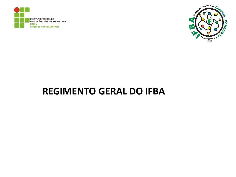 REGIMENTO GERAL DO IFBA