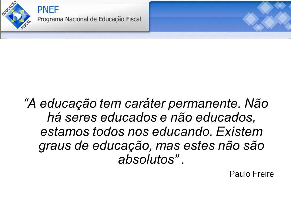 A educação tem caráter permanente.