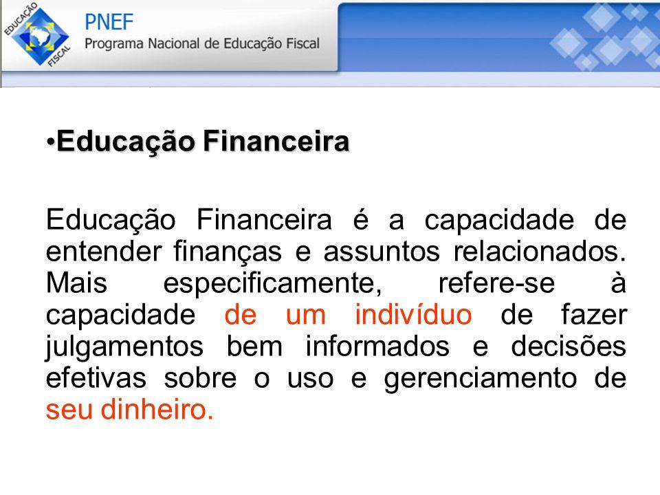 Educação Financeira Educação Financeira Educação Financeira é a capacidade de entender finanças e assuntos relacionados.