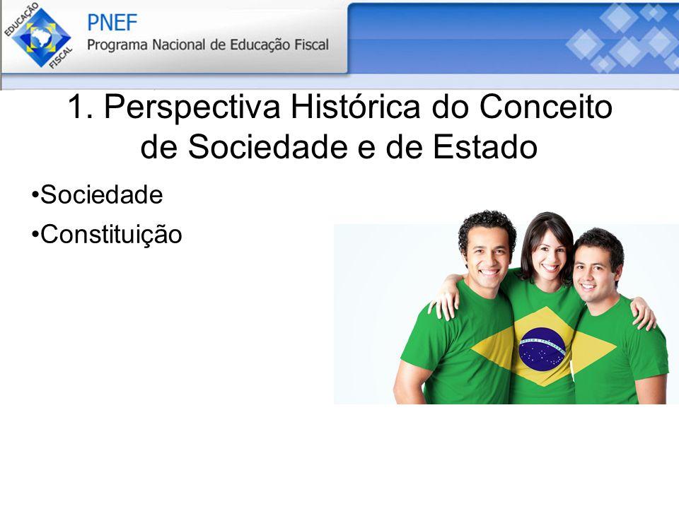1. Perspectiva Histórica do Conceito de Sociedade e de Estado Sociedade Constituição