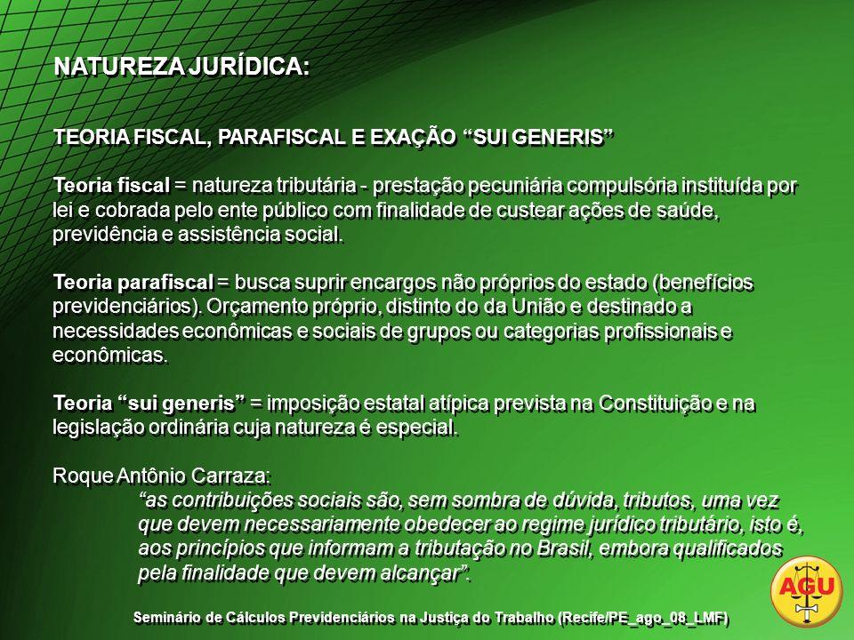 CONTRIBUIÇÕES SOCIAIS DESTINADAS A TERCEIROS – EXECUÇÃO – COMPETÊNCIA DA JUSTIÇA DO TRABALHO.