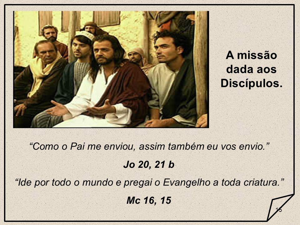 14 Eu vim para que todos tenham vida e vida em plenitude. Jo 10, 10 A missão segundo Jesus Cristo.