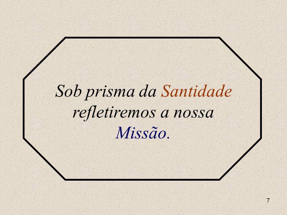 6 Sob o prisma da Missão refletiremos a nossa Santidade.