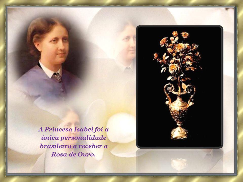 A Em 28 de setembro, o Papa Leão XIII lhe remeteu a comenda da Rosa de Ouro, como reconhecimento pela Abolição da Escravatura. Essa comenda pontifícia
