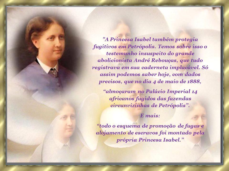 Defensora ardente do abolicionismo, a Princesa Isabel uniu-se aos partidários da causa. Apoiou muitos abolicionistas, mesmo os aliados ao incipiente m