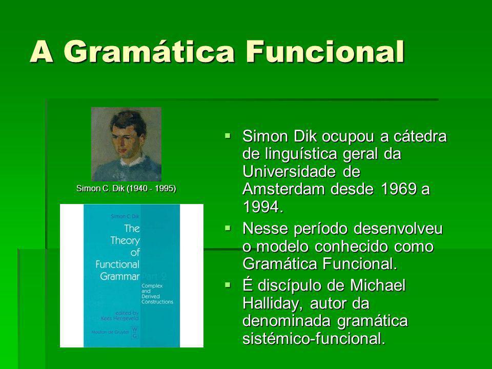 Simon Dik ocupou a cátedra de linguística geral da Universidade de Amsterdam desde 1969 a 1994. Simon Dik ocupou a cátedra de linguística geral da Uni