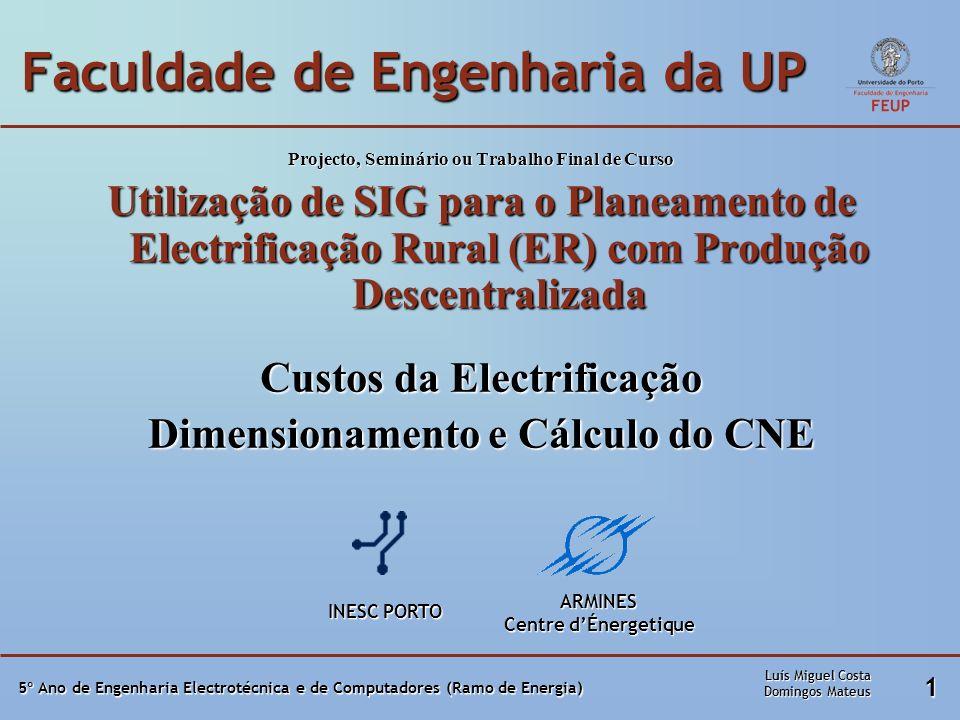 5º Ano de Engenharia Electrotécnica e de Computadores (Ramo de Energia) 1 Faculdade de Engenharia da UP Projecto, Seminário ou Trabalho Final de Curso