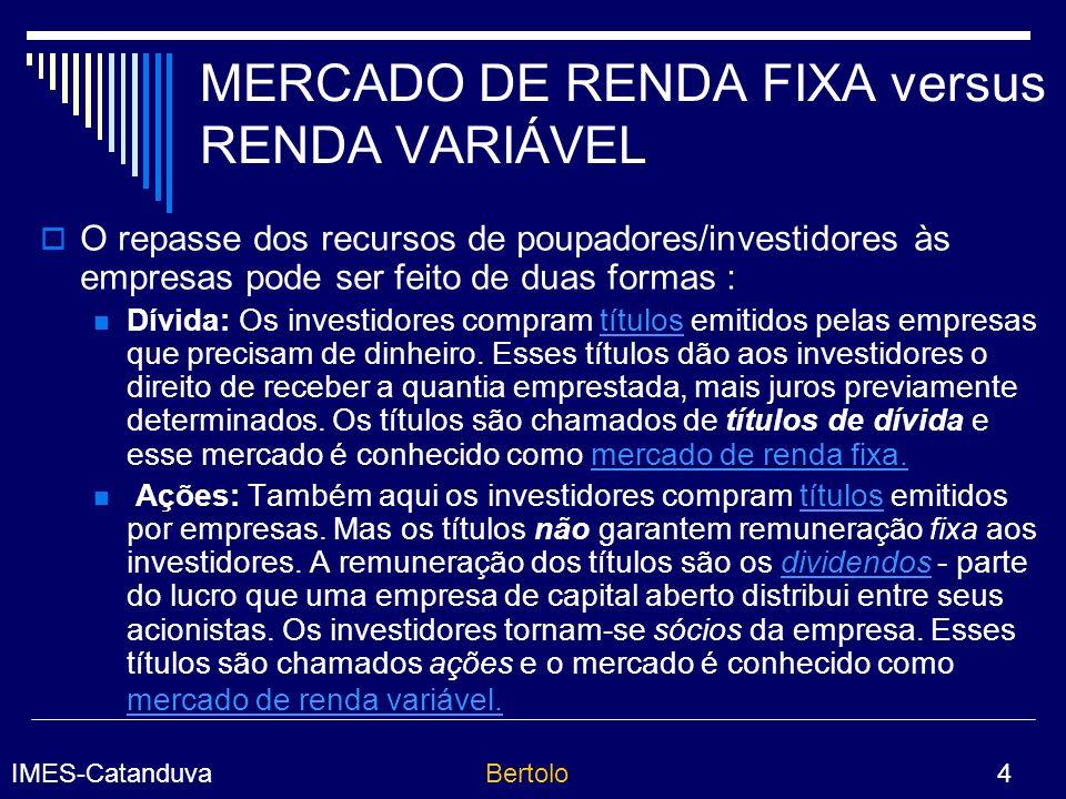IMES-CatanduvaBertolo 25 Taxa SELIC A Taxa SELIC é a taxa média ajustada dos financiamentos diários, com lastro em títulos federais, apurados no SELIC.