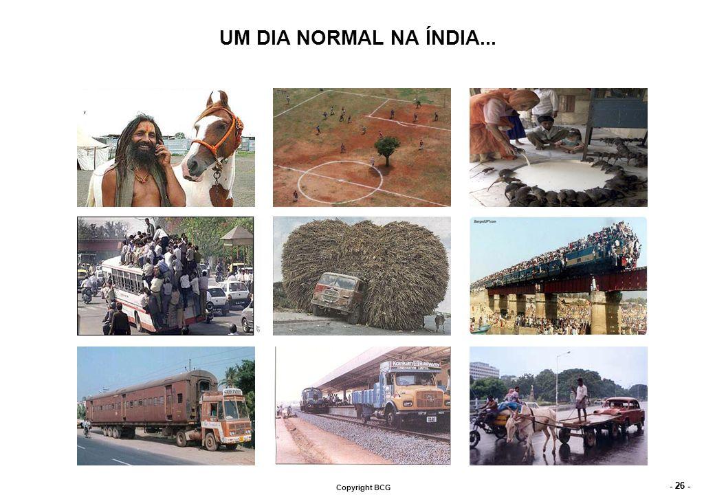 - 26 - Copyright BCG UM DIA NORMAL NA ÍNDIA...