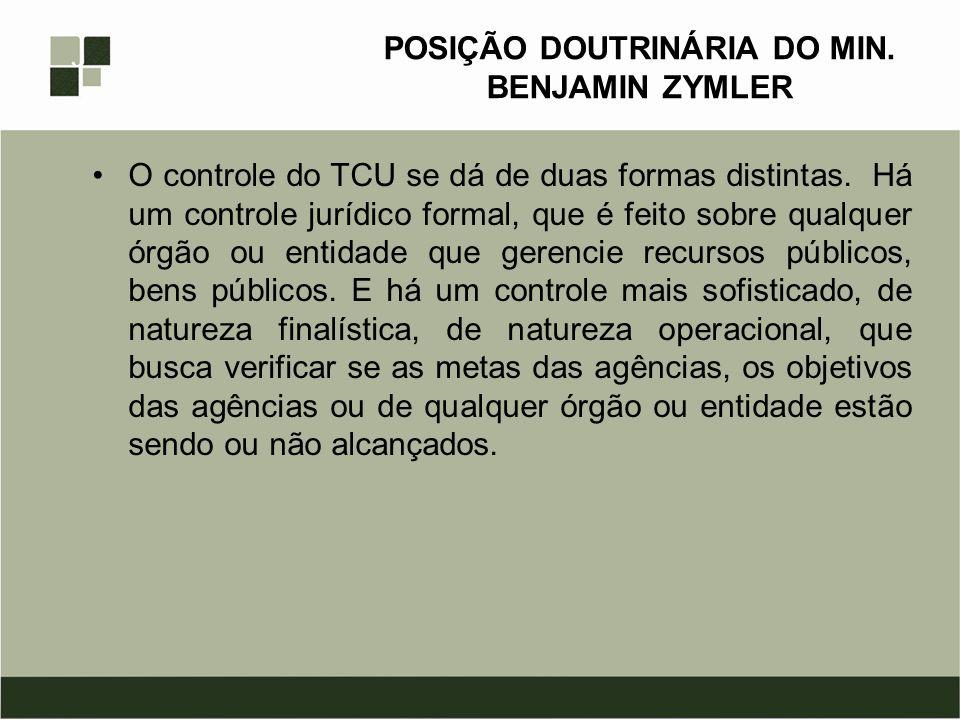 POSIÇÃO DOUTRINÁRIA DO MIN.