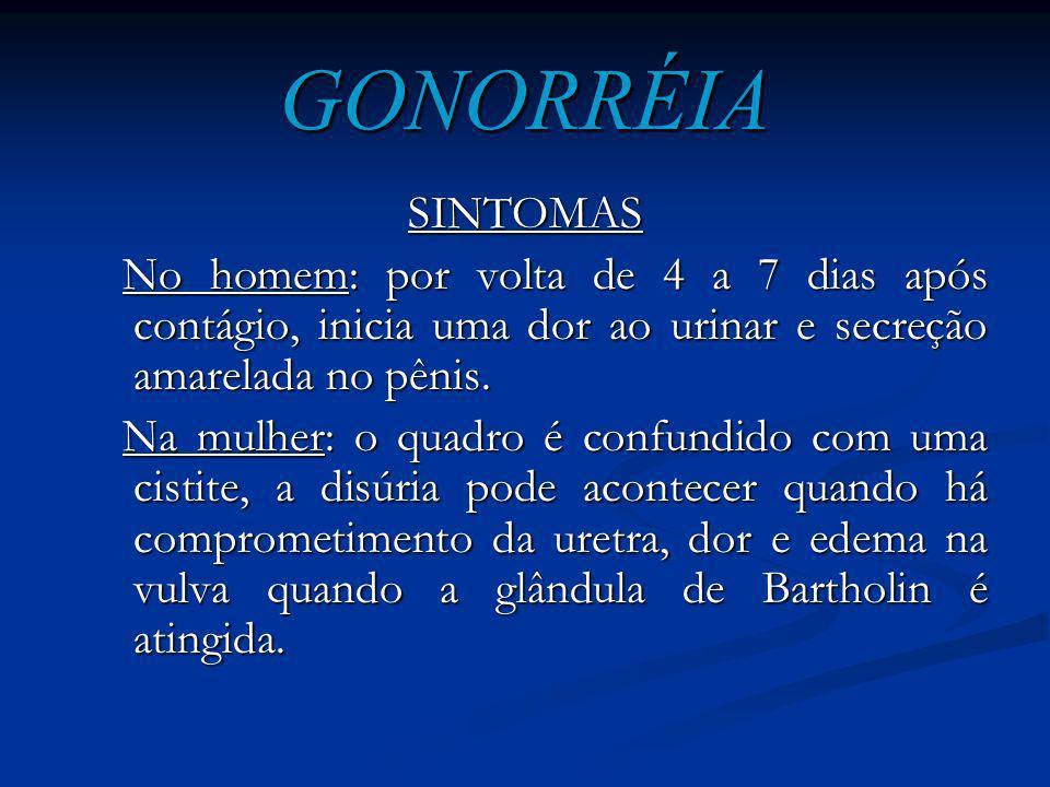 GONORRÉIA Gonorréia ou Blenorragia é uma doença infecciosa, transmitida mediante o contato sexual, ou de mãe para filho durante o parto na passagem pe