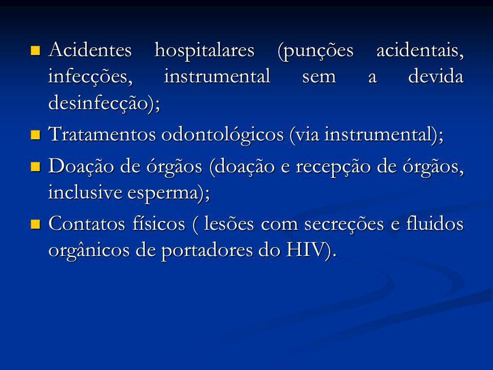 AIDS MEIOS DE TRANSMISSÃO: Relações sexuais; Relações sexuais; Transfusões de sangue (doadores e receptores); Transfusões de sangue (doadores e recept
