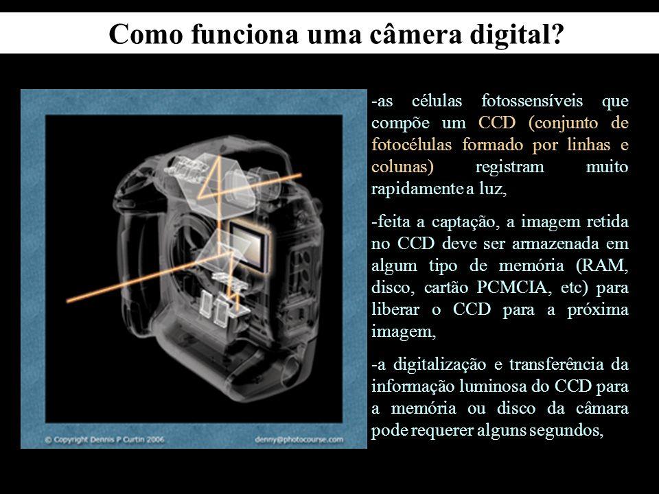 Quais as semelhanças e diferenças entre câmeras convencionais e digitais?