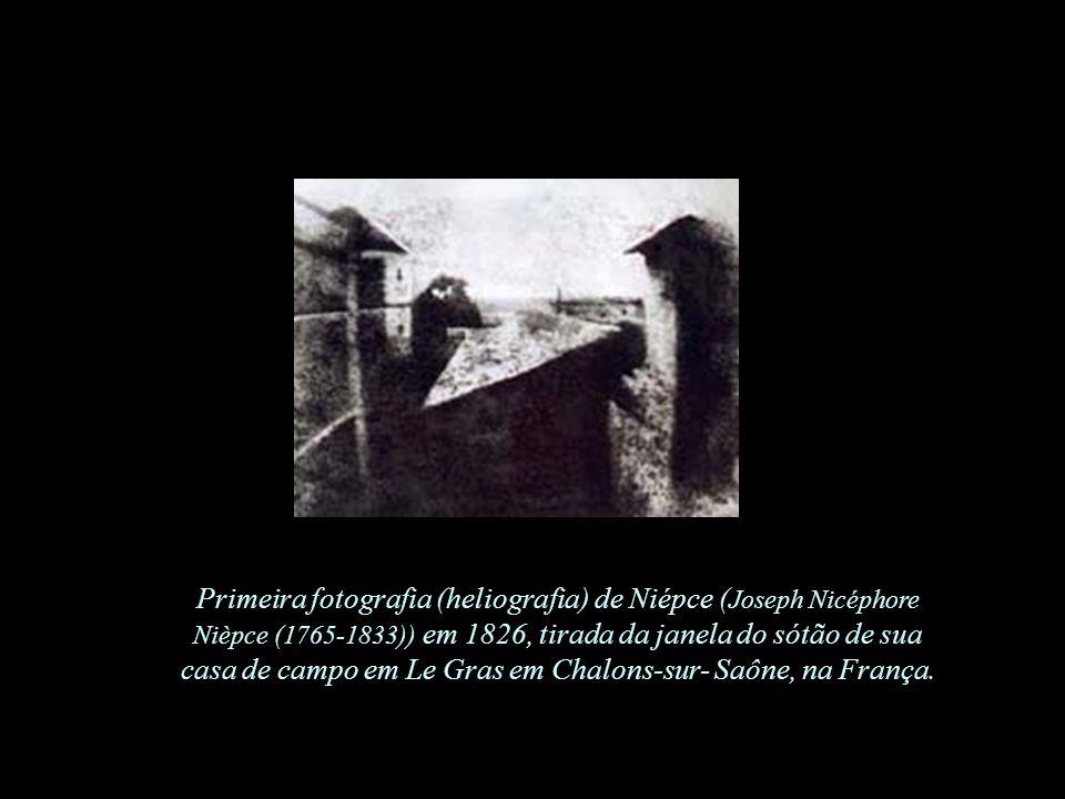 O estúdio do fotógrafo, 1837 Primeiro daguerreótipo de Louis-Jacques Mandè Daguerre (1787-1851)