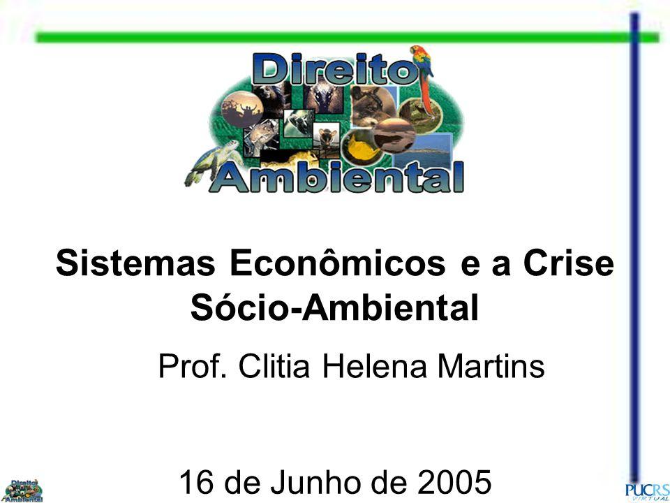 Sistemas Econômicos e a Crise Sócio-Ambiental Prof. Clitia Helena Martins 16 de Junho de 2005