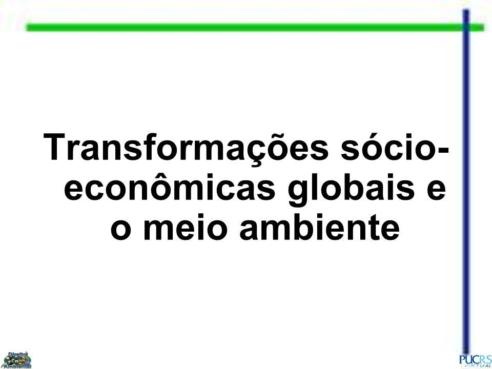 Debate sobre o Meio Ambiente Década de 2000 2002 Cúpula Mundial sobre Desenvolvimento Sustentável (Rio+10), em Johanesburgo, África do Sul..