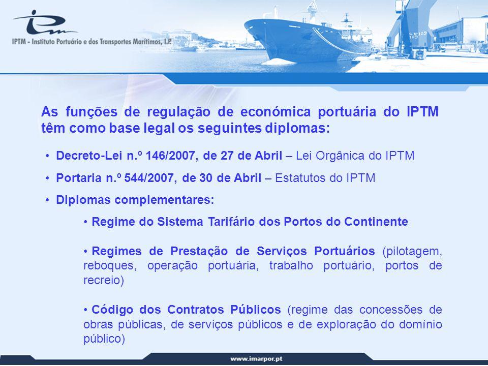 17 Decreto-Lei n.º 146/2007, de 27 de Abril – Lei Orgânica do IPTM Portaria n.º 544/2007, de 30 de Abril – Estatutos do IPTM Diplomas complementares: