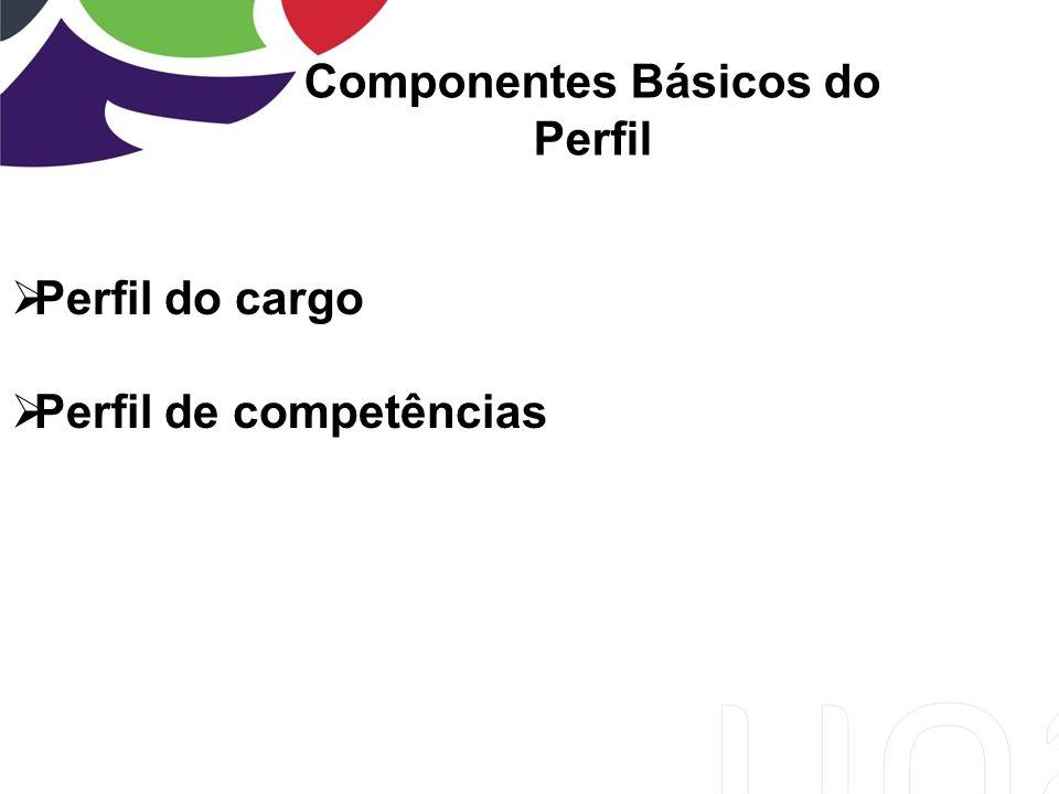 Componentes Básicos do Perfil Perfil do cargo Perfil de competências