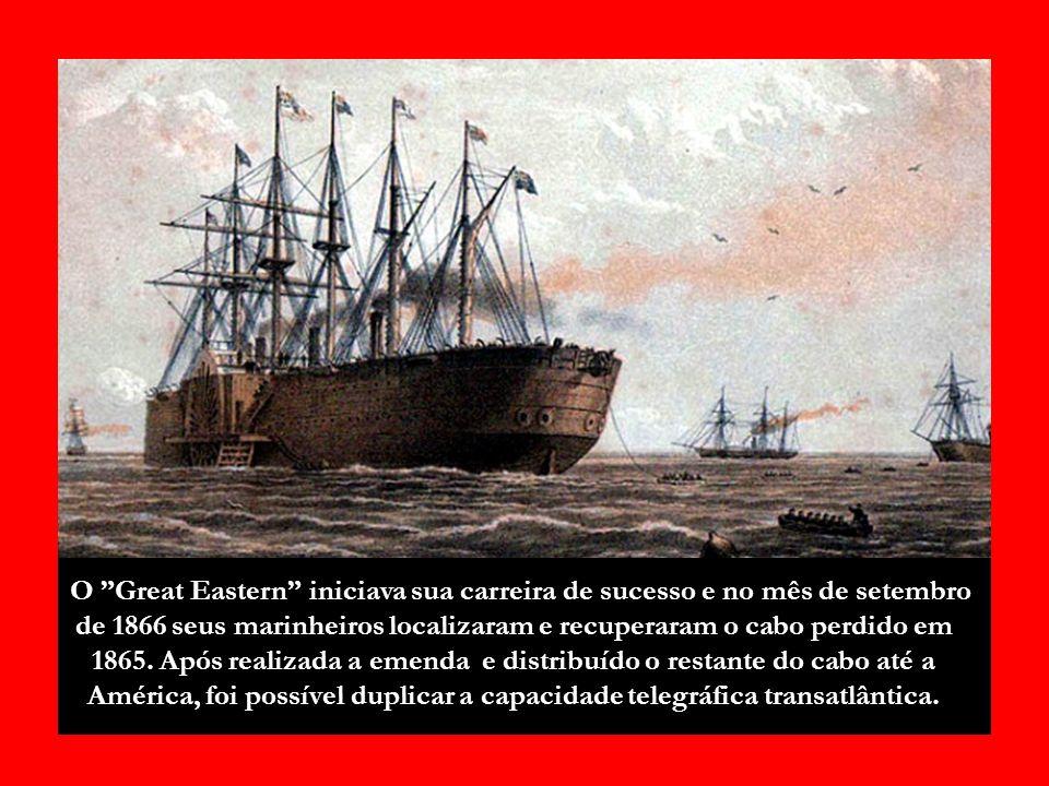 O cabo telegráfico transatlântico marcou a comunicação do Novo e Velho Mundo.